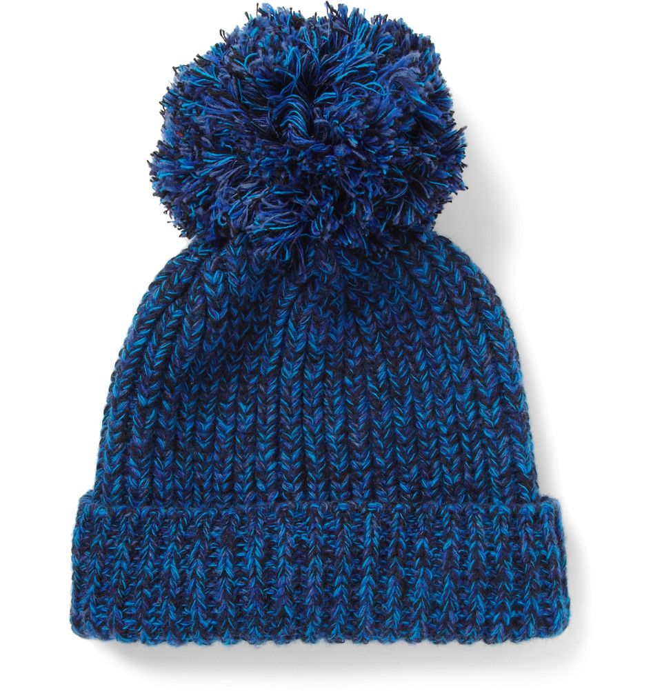 Wool And Cotton Blend Beanie Bobble Hat Hommbre Hats