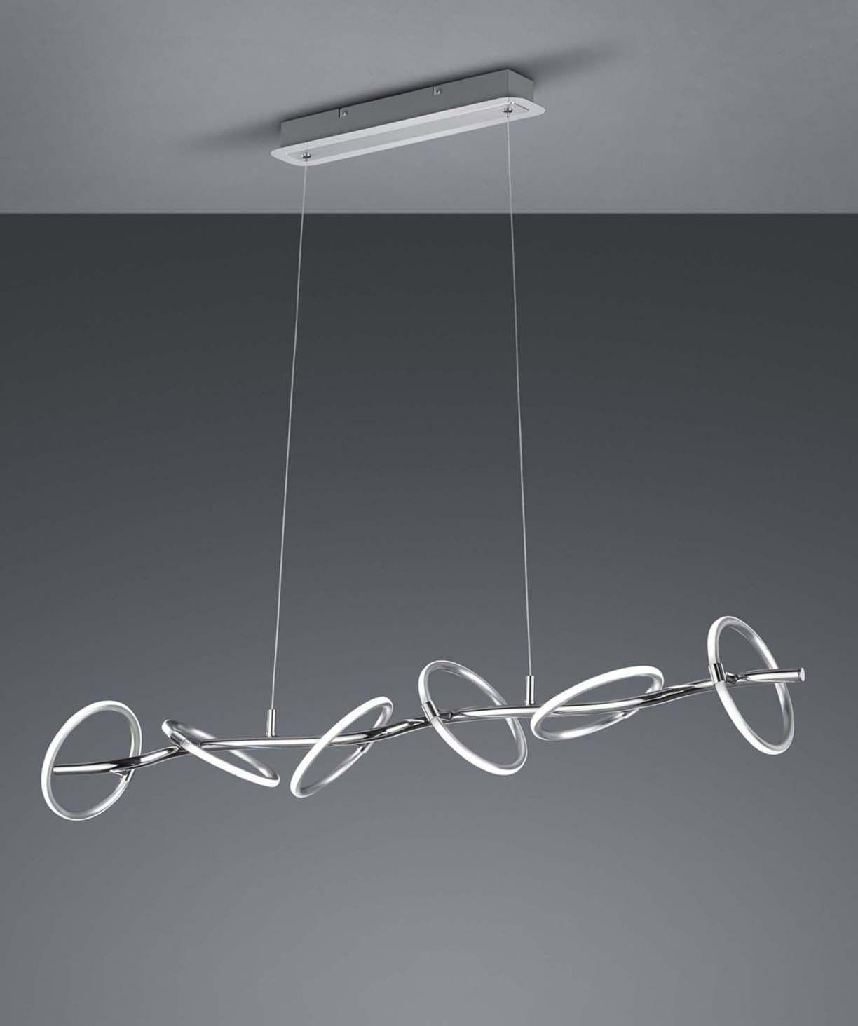 Lampadario A Led Moderno.Lampadario A Led Moderno 6 Luci Design Trio 370910606