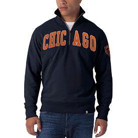13973eee Get this Chicago Bears Navy Striker 1/4 Zip Fleece Sweatshirt at ...