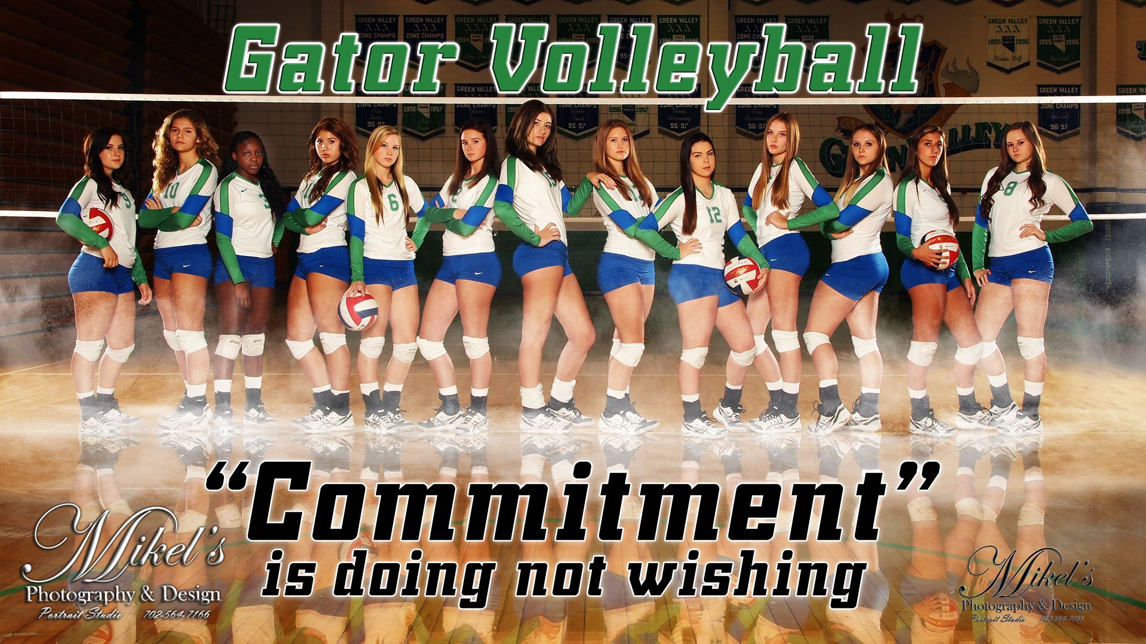 Green Valley Hs Volleyball Banner Mikel S Photography Design Www Mikelsphotography Com 702 564 Volleyball Photography Team Poster Ideas Volleyball Pictures