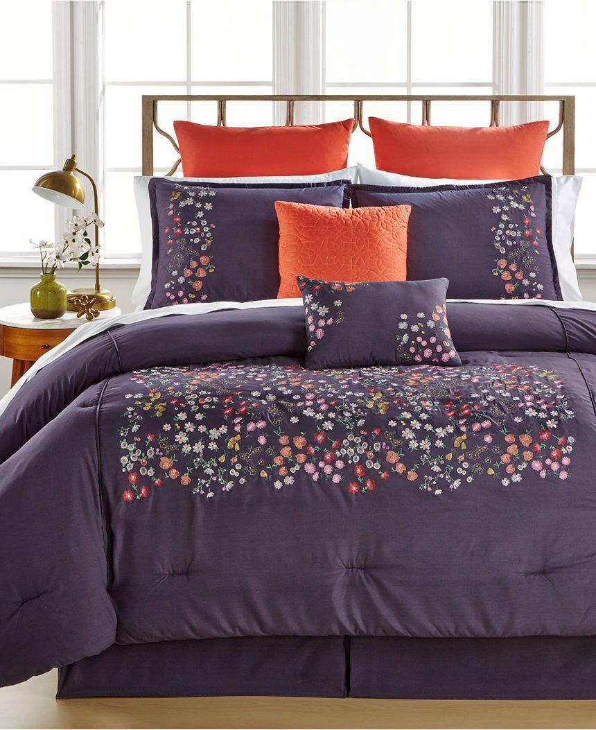 with comforter sets piece purple premium style sale ease bedding sheets eggplant set