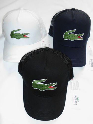 2013 MENS LACOSTE BIG CROC LOGO TRUCKER CAP HAT  08b459098e2