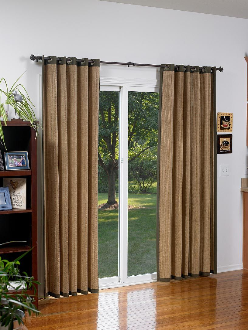 Bamboo Shades For Sliding Glass Doors Sliding Door Curtains
