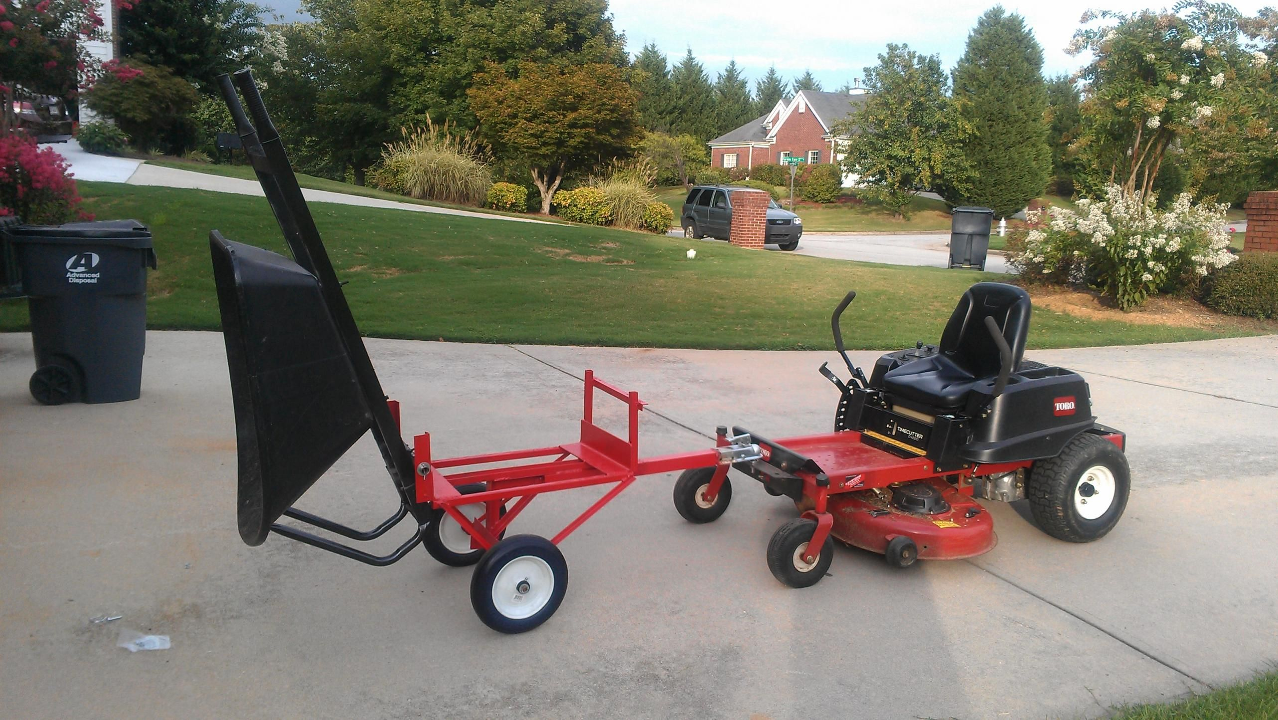 Multifuncional Cart Powered Wheel Barrow By Kenrizza If You Combine A Zero Turning Mower With A Front Wheelbarrow Bobcat Mowers Garden Tractor Attachments