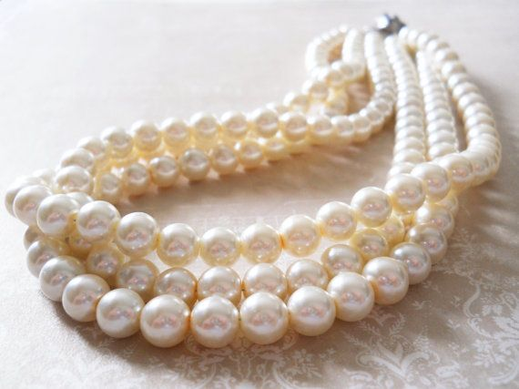 Wedding Jewelry Set Pearl Wedding Jewelry by PearlyJaneBridal, $74.00