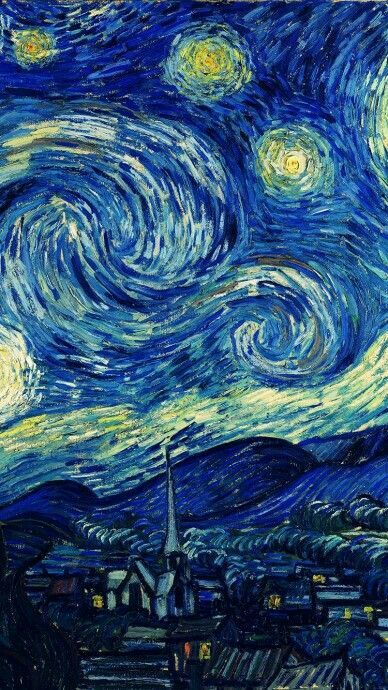 Starry Night Wallpaper Starry Night Van Gogh Van Gogh Wallpaper Starry Night Painting