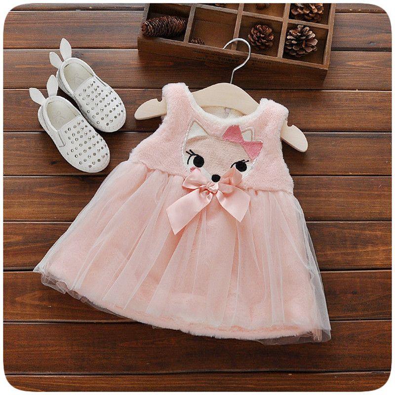 18b7a0419 Barato 2016 inverno bebê recém nascido menina manto engrosse plush bonito  estilo princesa roupas birthday party