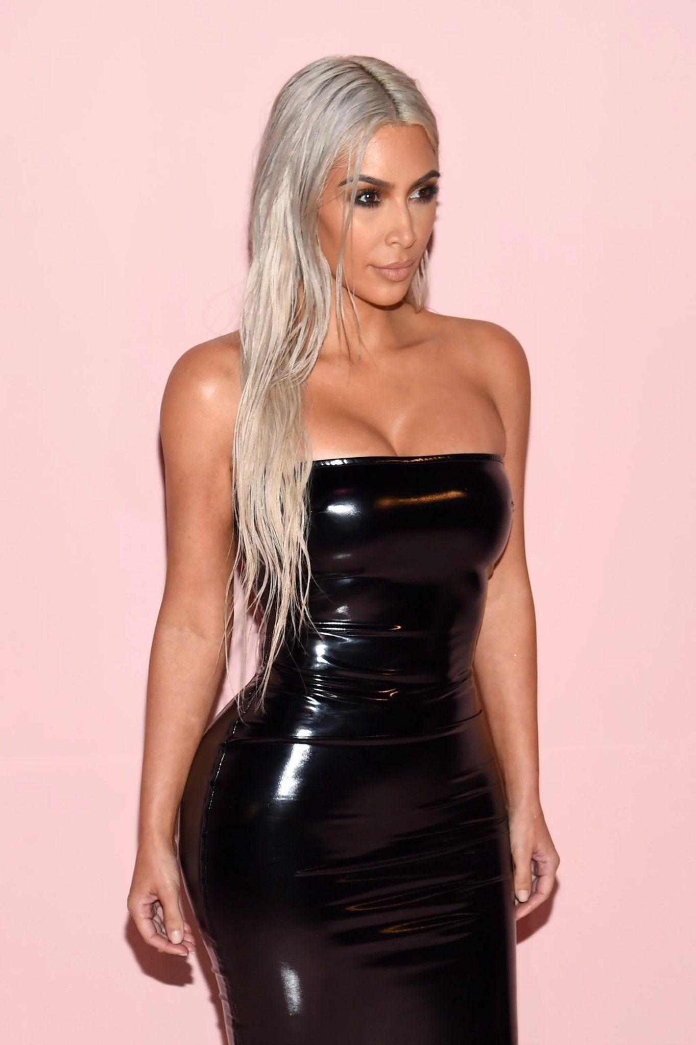 Kim Kardashian pvc dress | lack | Pinterest