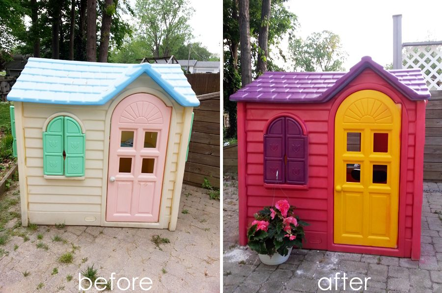 I Found An Old Faded Little Tykes Cottage On Craigslist And Upcycled