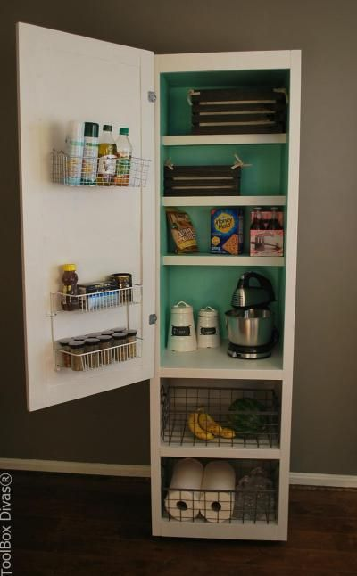 Diy Mobile Pantry Cabinet Stand Alone Kitchen Pantry Pantry