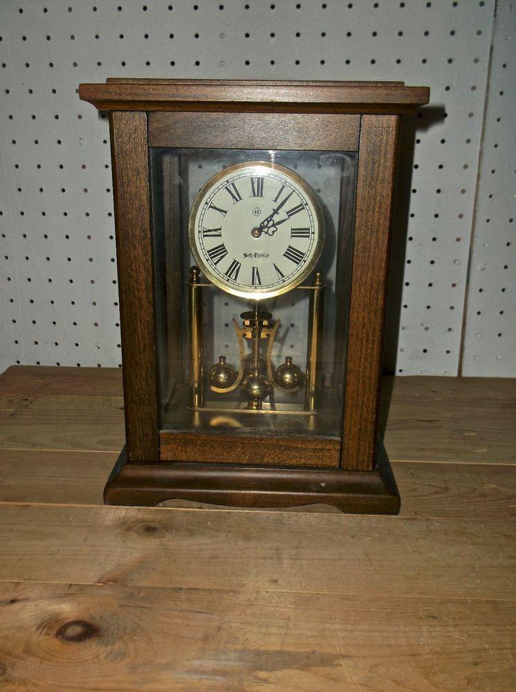 Vintage Seth Thomas Clock Germany 2 Jewels Rare Mantel Clock Antique Wall Clock Vintage