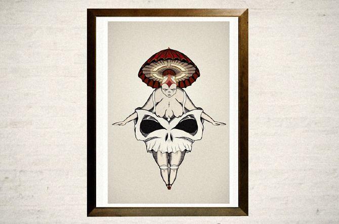 www.thebemo.com  ballet dancer skull modern