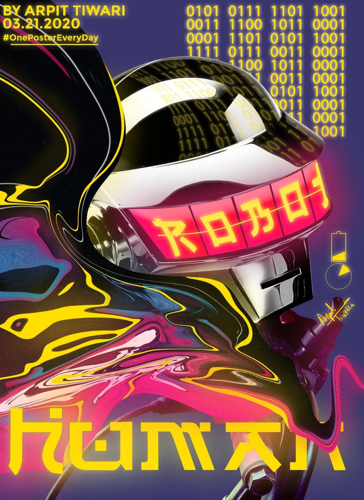 Neon Cyberpunk Daft Punk in 2020 | Daft punk, Punk, Thomas bangalter