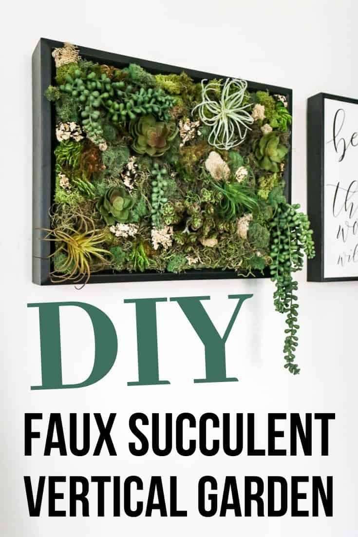 If you're looking for a fun and simple DIY that incorporates fake succulents - you'll love this wall decor! These ideas for hanging succulents on the wall are so fun! #fakesucculent #walldecor #wallart #succulents