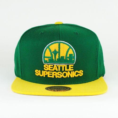 Seattle Supersonics 2 Tone snapback - CraniumFitteds  694ffb43cd4a