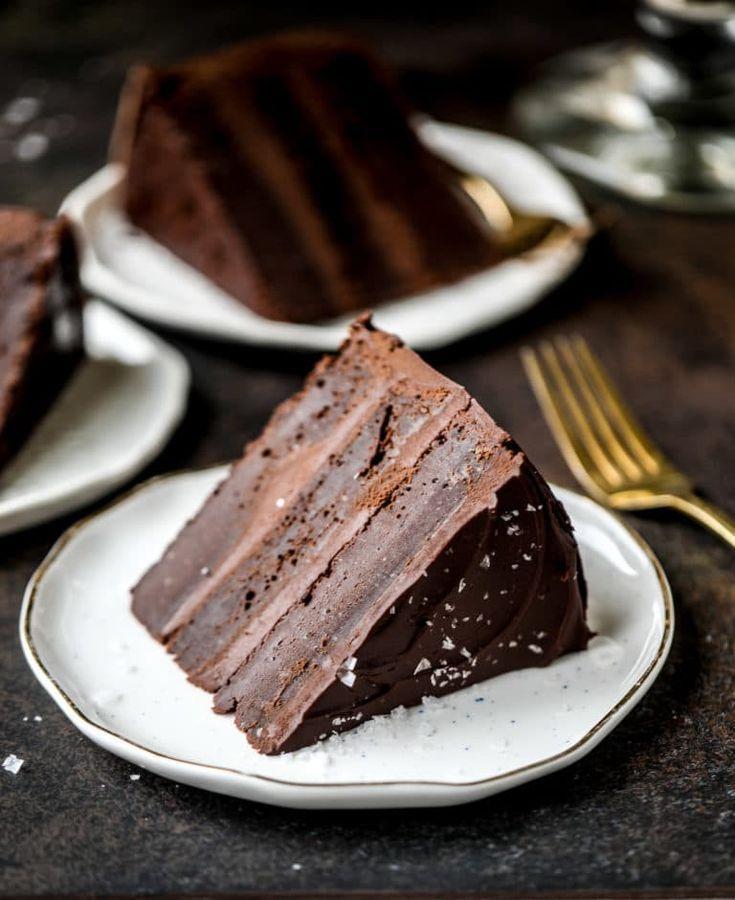Dark Chocolate Stout Cake - Salted Dark Chocolate Stout Cake