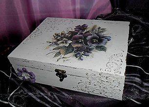 Krabičky - šperkovnica-fialka - 6150314_