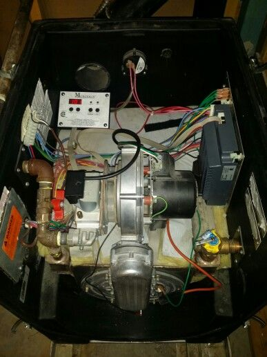 Munchkin 199M high efficiency condensing gas boiler internal view ...