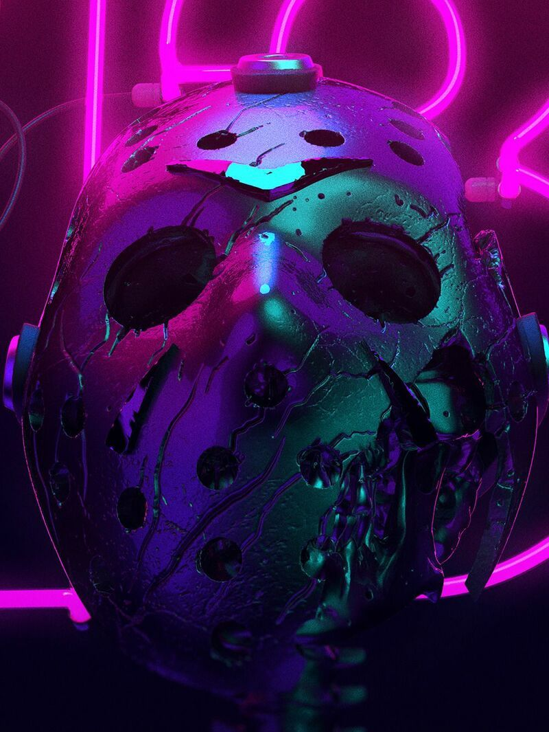 Weekly Inspiration Dose 059 Jason Voorhees Cyberpunk Art
