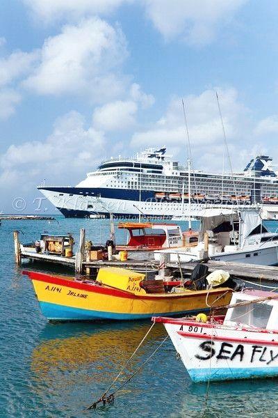 The Marina And Port Of Oranjestad Aruba With The Celebrity Cruise - Cruise ships in aruba