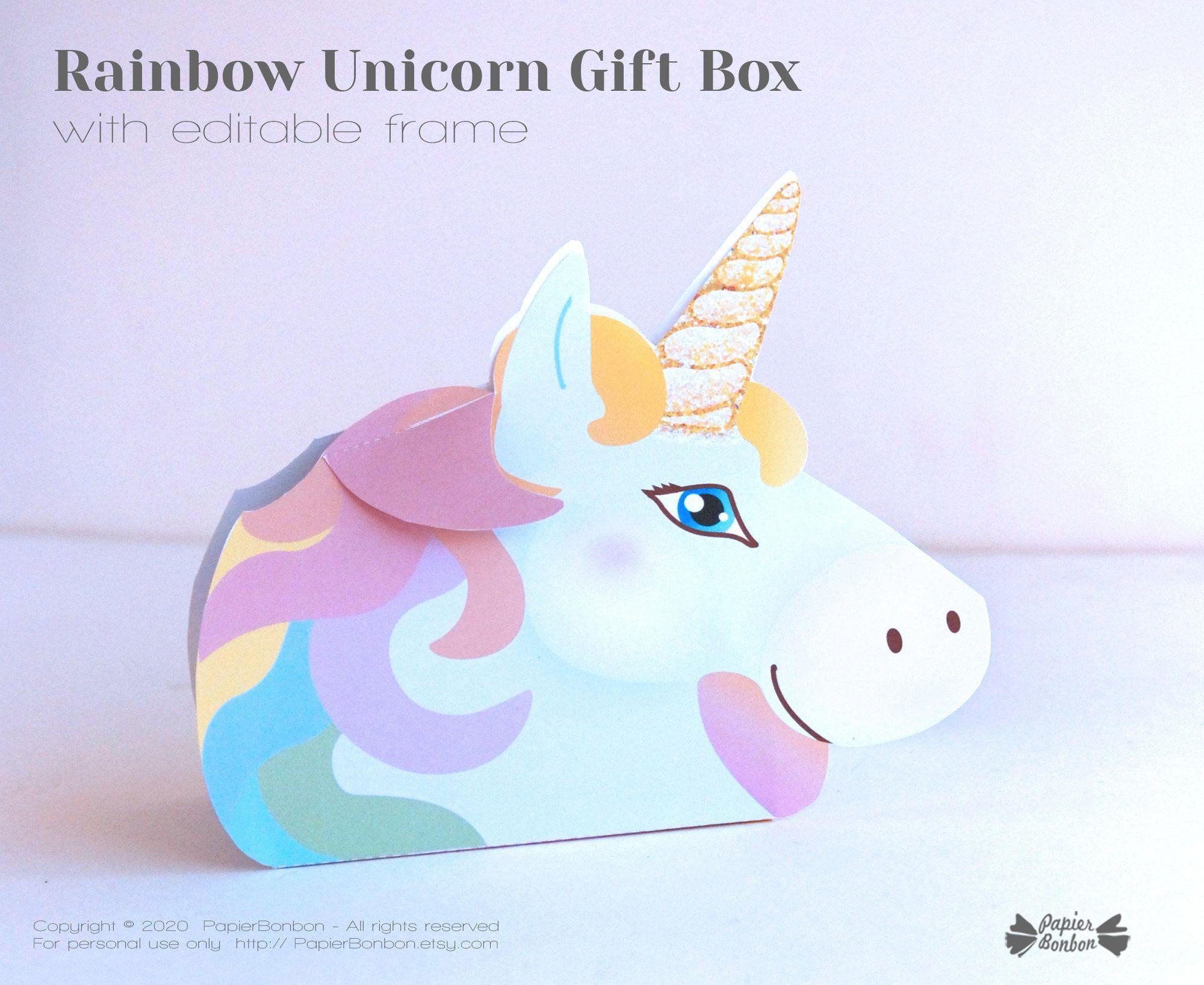 Rainbow Unicorn Gift Box For A Kids Valentine Bff Galentines