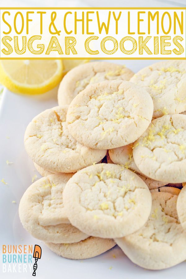 Lemon Sugar Cookies #sugarcookies