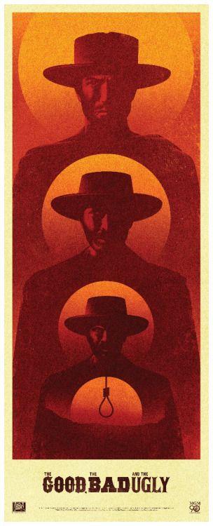 """Afiche conmemorativo de """"El Bueno, El Malo y El Feo""""."""