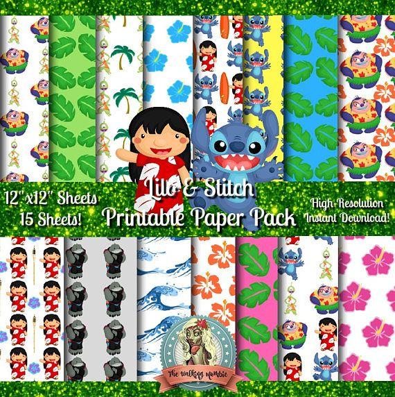 Lilo And Stitch Scrapbook Paper Lilo And Stitch Party Compras Cosas