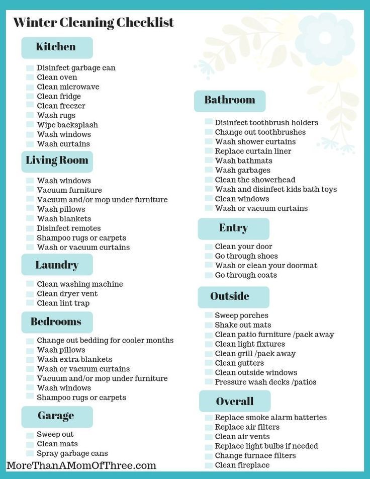 Easy Winter Cleaning Tips + Winter Cleaning Checklist