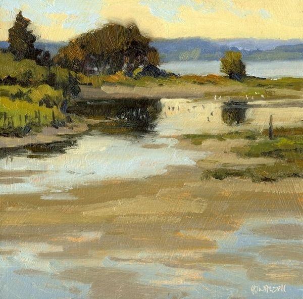 Shorebirds / Island Suite 2010 by Mike Kowalski Oil ~ 8 x 8