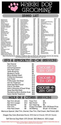 Dog Grooming Prices Google Search Pet Grooming Business Dog Grooming Salons Pet Grooming Salon
