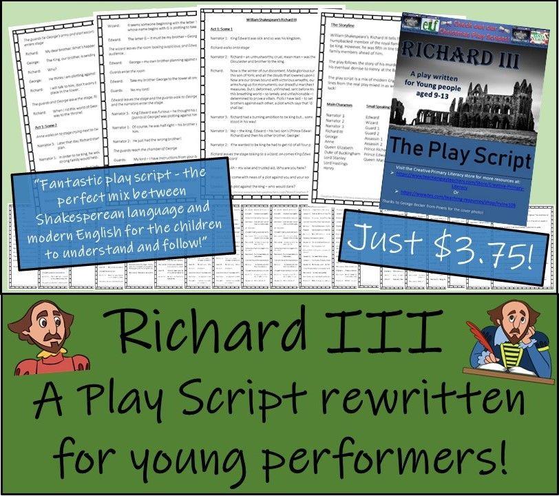 KS2 / KS3 Drama Bundle of Four Shakespeare Play Scripts