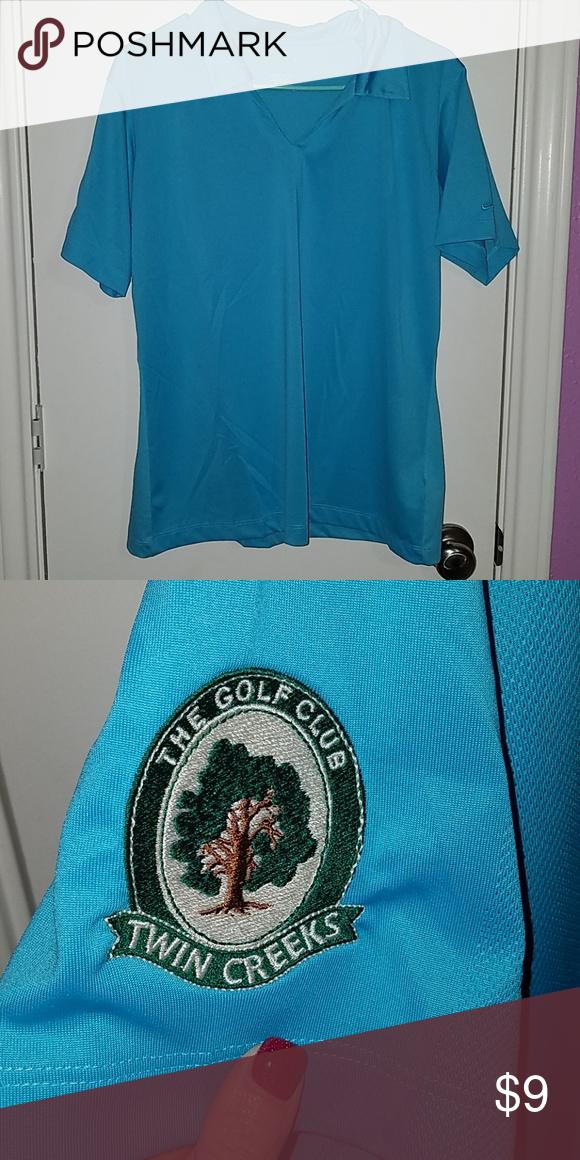 b0a851c5df8b Nike Golf Polo Beautiful Blue Nike golf polo. Has a golf course logo on the  sleeve