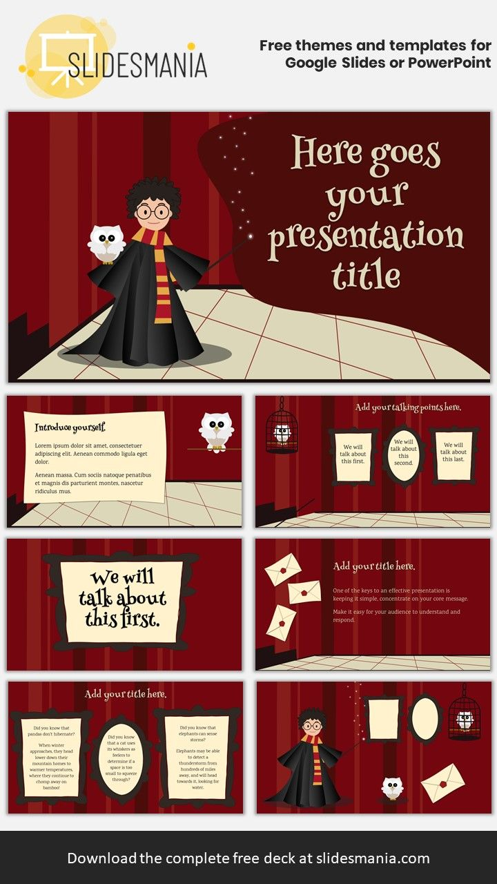 A Harry Potter Inspired Template For Google Slides Or Powerpoint Harry Potter Classroom Harry Potter Lessons Harry Potter