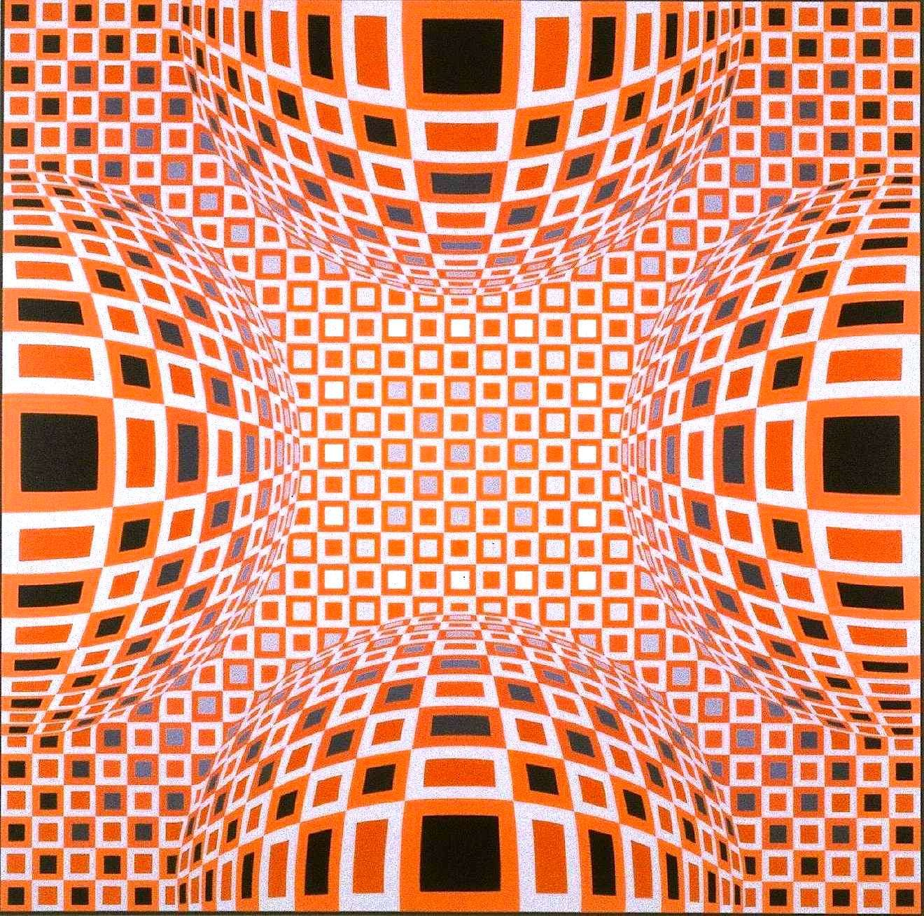 O R A N G E. Victor Vasarely painting