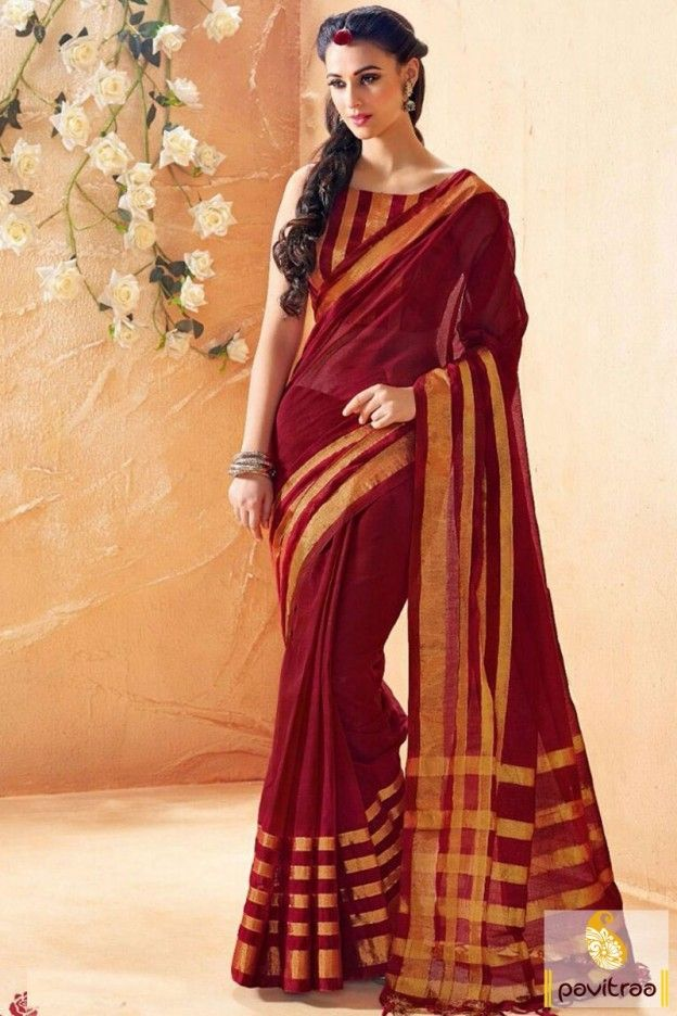 Maroon color saree online shopping