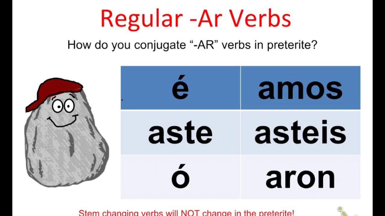 Regular Ar Verb Conjugation In Preterite Song Preterite Verb Conjugation Verb [ 720 x 1280 Pixel ]