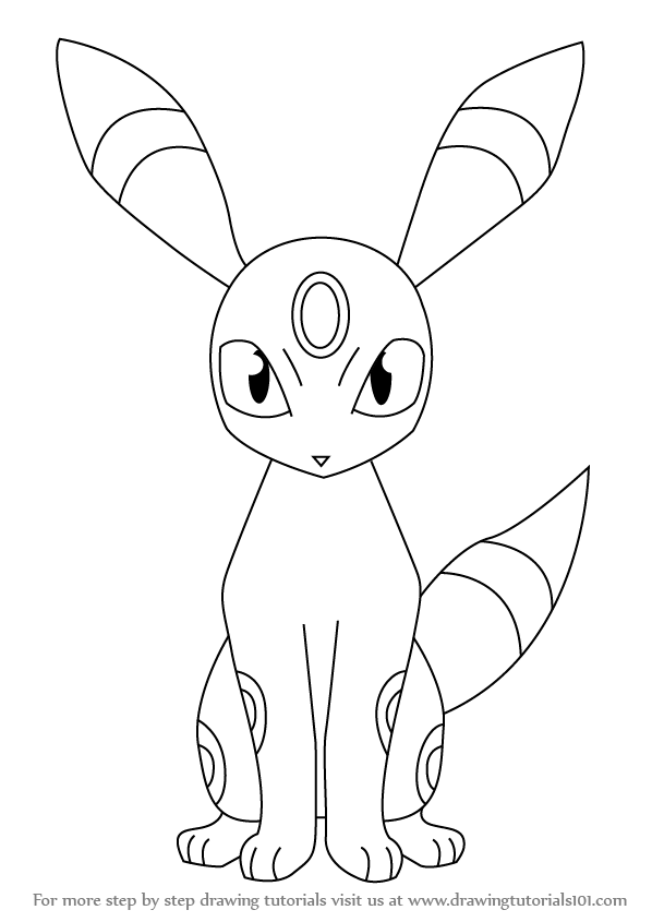 Learn How to Draw Umbreon from Pokemon (Pokemon) Step by Step ...