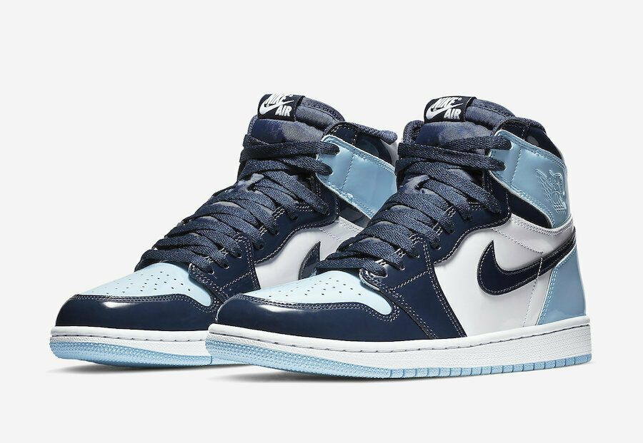 e955c074168b Nike WMNS Air Jordan 1 Retro High Blue Chill Patent UNC CD0461-401 Brand New  - Nike Airs (This is a link to Amazon and as an Amazon Associate I earn  from ...