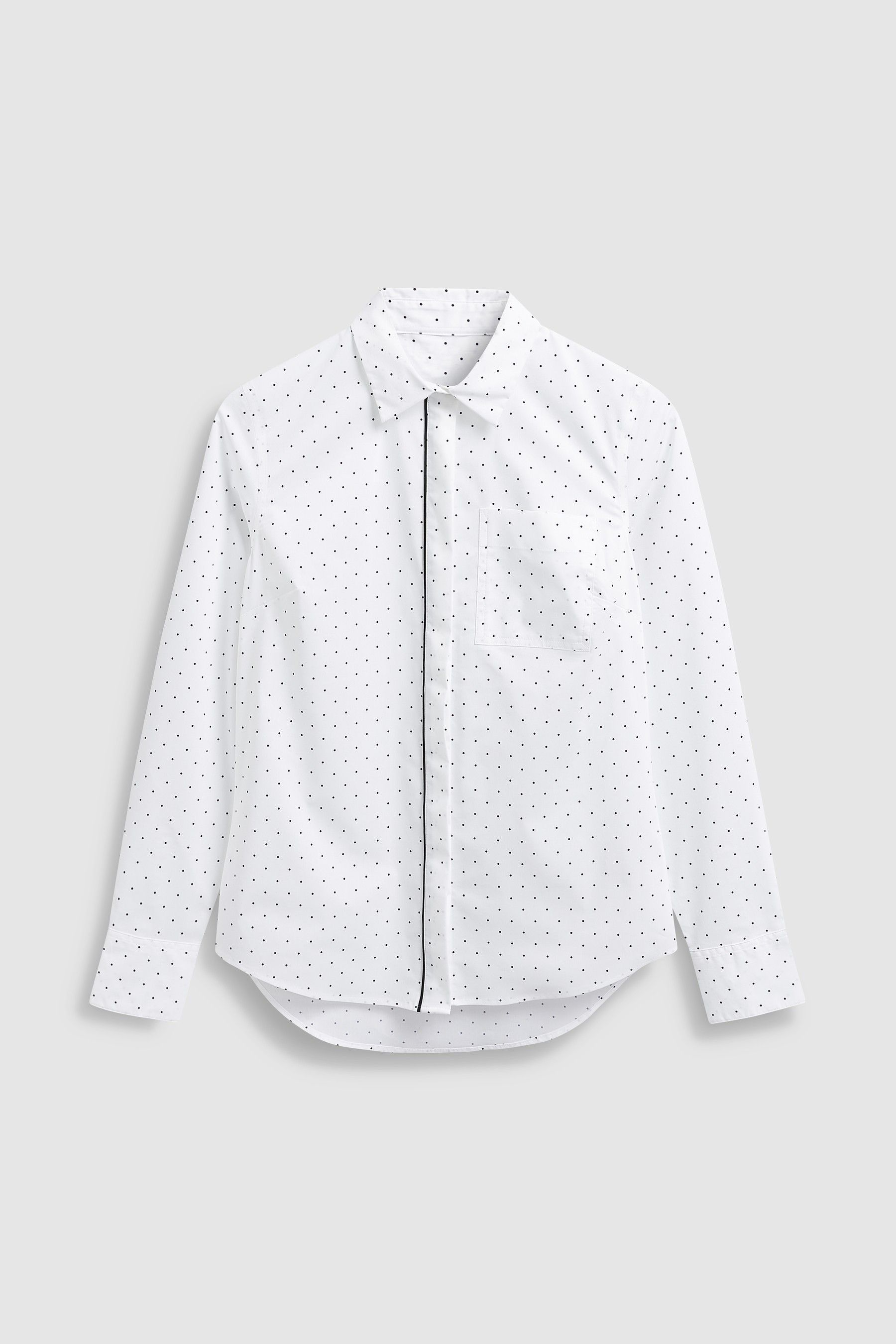 9755cf89 Womens Next Spot Print Cotton Rich Shirt - White   Products in 2019 ...