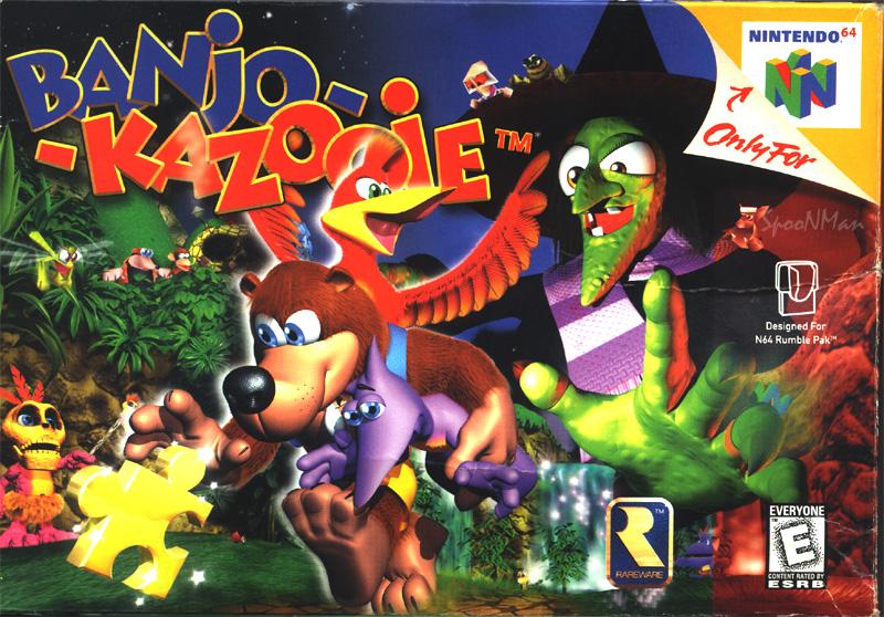 Banjo Kazooie Cover Download Nintendo 64 Covers Banjo Kazooie Banjo Nintendo 64 Games