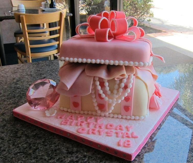 Jewelry Box Birthday Cake | Craftsy | Birthday cake with ...