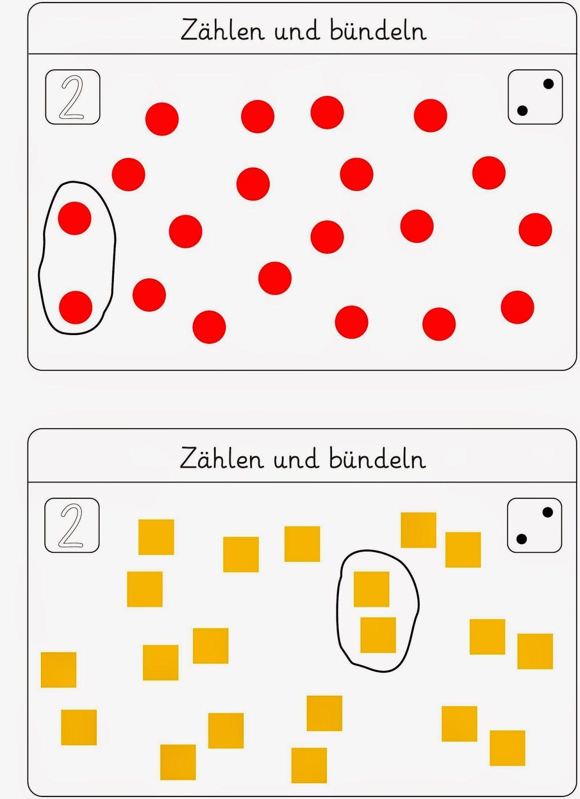 Bündeln - eine Kartei zum Fördern | Mathe 1 | Pinterest | Kartei ...