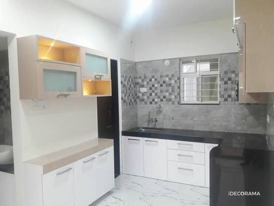 Drawing Room Interior Design Kitchen In 2bhk Apartment At Moshi