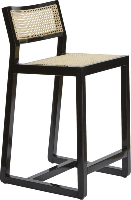 Makan 30 Black Wood And Cane Bar Stool Bar Stool Stools And