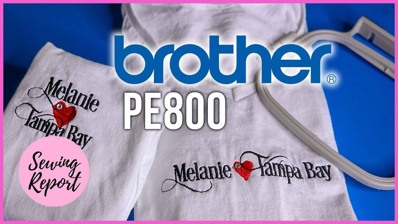 How to Embroider TShirts in the Hoop Brother PE800