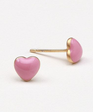 Take a look at this Pink Heart Stud Earrings by Frida Girl Jewelry on #zulily today!
