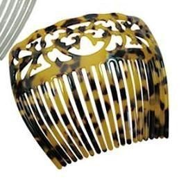 Traditional style turtle shell hair comb. Size: approx. 5 ...