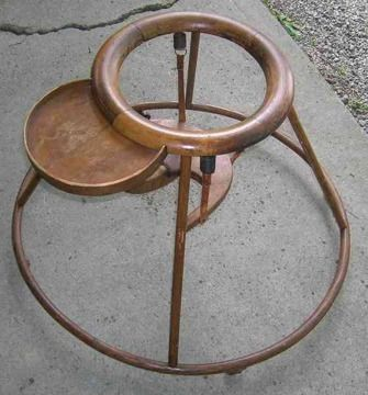 95 Antique Wooden Baby Walker W