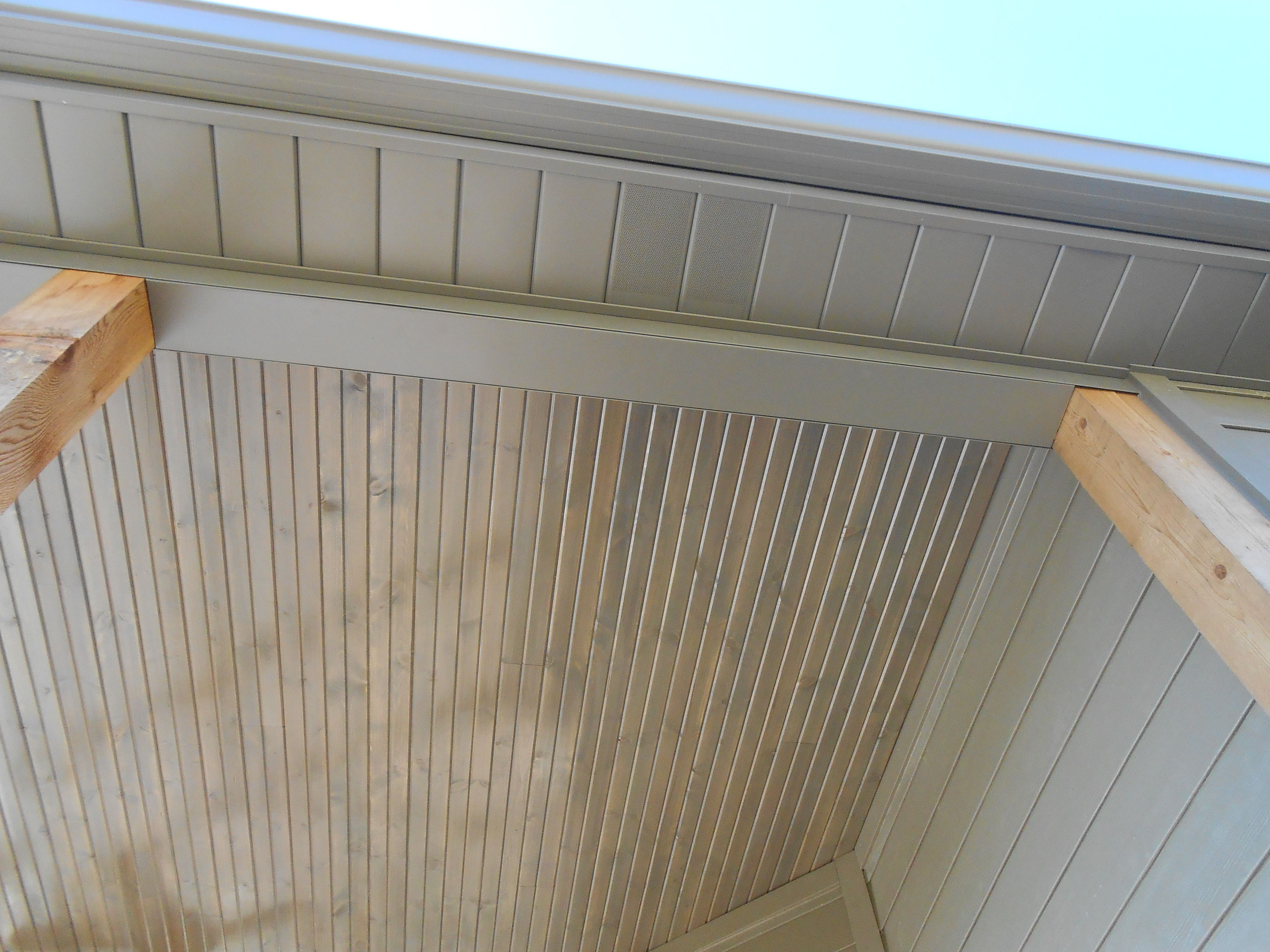 Picture Of The Porch Ceiling Made Out Of Vinyl Soffit